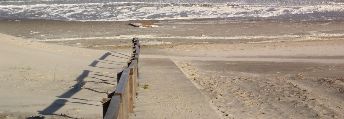 Sturmflut am Juister Strand
