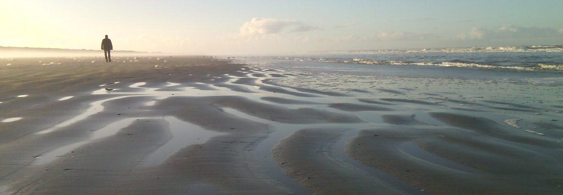 Der Juister Strand bei Ebbe